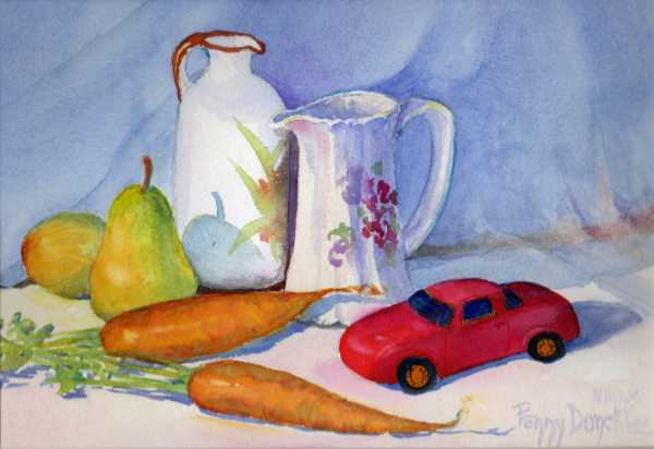 Red Car and Carrots 8 x 11