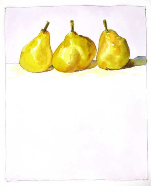 Three Perky Pears 11x9
