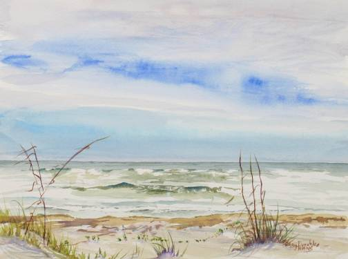 South Padre Beach 9x11